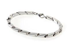 Stainless Steel Bullet Link Bracelet