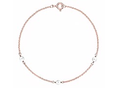Rose Gold 3-Pearl Necklace