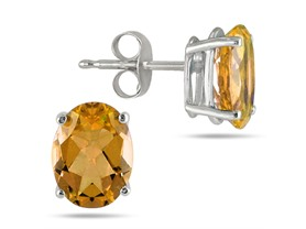 Genuine Citrine 1CTTW Sterling Silver Stud Earrings