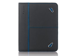 Tech Collection Leather Case iPad - Black/Blue