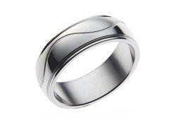 Stainless Steel Swirl Ring