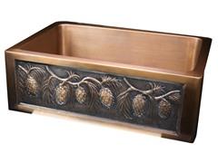 Undermount Copper Apron Sink