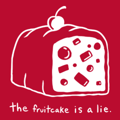 The fruitcake is a lie