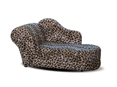 Shaggy Chaise Pet Bed - Leopard