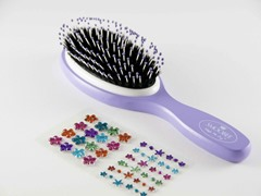 Purple Brush w/Rainbow Flowers Stickers