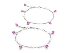 Rose Opal Bracelet & Anklet Set