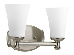 2-Light Bath Fixture, Brushed Nickel