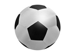 "18"" Silver & Black Soccer Neon"