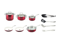 Kevin Dundon 14 Piece Cookware Set Red
