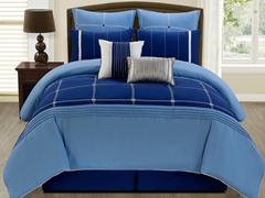 8-Pc Jakson Comforter Set- Blue (Multiple Sizes)