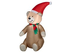 Airblown Teddy Bear with Santa Hat