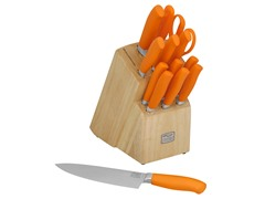 Chicago Cutlery Kinzie Orange 14-Piece Block Set