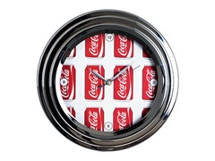 Chrome Finish Clock - Cans Style