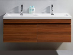 "55"" Zuri: Double Sink Bathroom Vanity- Plum"