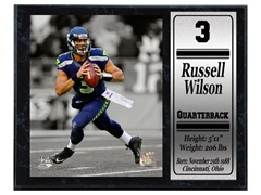 Seattle Seahawks Russell Wilson Stat Plaque