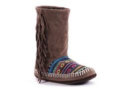 MUK LUKS® Tiffany Slipper Boot, Brown