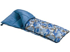 Wenzel Kids Blue Camou Sleeping Bag