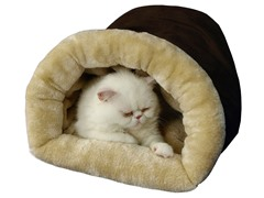 Cat Bed -  Mocha & Beige