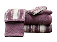 Egyptian Cotton 6-Pc Towel Set-Plum