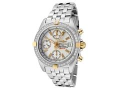 Breitling Stainless Steel White Diamond