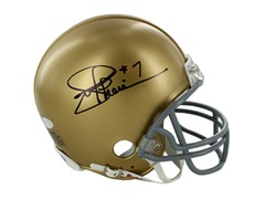 Joe Theismann Signed Notre Dame Mini