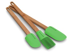 Bamboo 3-Piece Silicone Utensil Set
