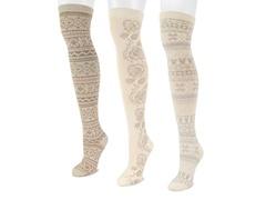 Microfiber 3-Pair Ivory Pack OTK Socks