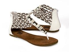 Muk Luks Sierra Braided Sandals, White