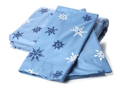 MicroFlannel Queen Set - Snowflake