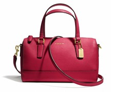 Coach Mini Satchel in Saffiano Leather, Scarlet