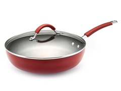 "11"" Covered Deep Skillet Red"