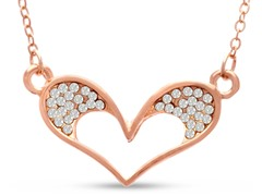 Swarovski Elements Bubble Heart Necklace