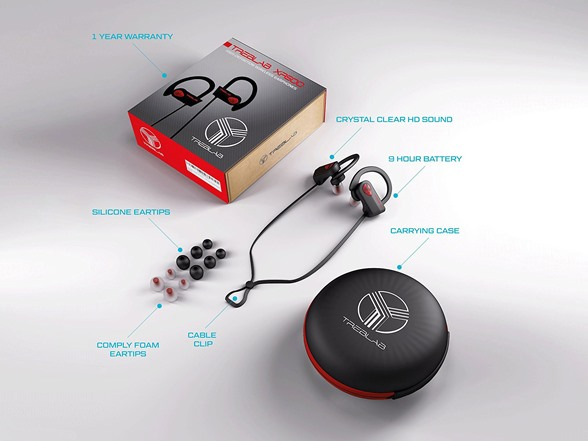 treblab xr500 sports bluetooth earbuds. Black Bedroom Furniture Sets. Home Design Ideas