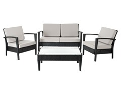 Piscataway 4-Piece Set, Black/Grey