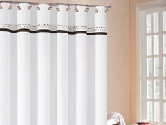 Klyne Embroided Shower Curtain-4 Colors