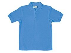 Boys Pique Polo - Light Blue (Sizes XS-L)