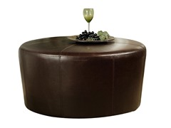 Montgomery Bicast Leather Ottoman