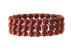 3 Rows Cherry Freshwater Pearl Bracelet