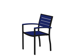Euro Dining Chair, Black/Pacfiic Blue