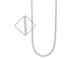 La Rochelle Sterling Silver Cuban Necklace
