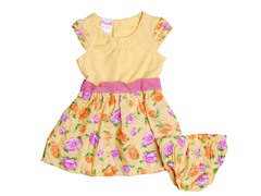 Yellow Floral Knit Dress (12-24M)