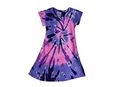 Girls A-Line Dress - Purple Pink (2-14)