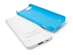 Ecopak iPhone 5 Battery Case - Wht/Blu