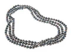 Peacock Color Freshwater Pearl Necklace, 64""