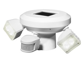 Solar Twin LED Motion Post Light, White