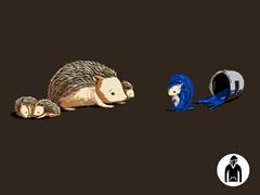 Original Blue Hedgehog Pullover Hoodie
