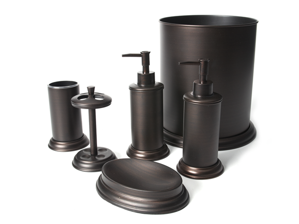 oil rubbed bronze bathroom accessories.  Preston 6 PC Oil Rubbed Bronze Bath Set