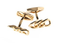 14k Gold Plated Curb Link Cufflinks