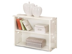 2-Pack of White Stacking Shelves