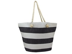 Straw Bag, White/Black
